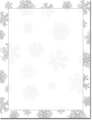 Imprintable Blank Stock - Icy Flakes Silver Foil Letterhead by Masterpiece Studios