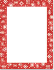 Imprintable Blank Stock - Snowy Flakes Letterhead by Masterpiece Studios