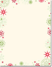 Imprintable Blank Stock - Red & Green Flakes Letterhead by Masterpiece Studios
