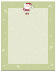 Imprintable Blank Stock - Merry Christmas Santa Letterhead by Masterpiece Studios