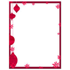 Imprintable Blank Stock - Painted Poinsettia Letterhead by Masterpiece Studios