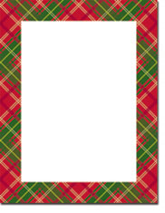 Imprintable Blank Stock - Country Plaid Letterhead by Masterpiece Studios