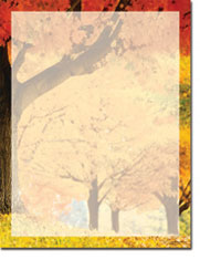 Imprintable Blank Stock - Fall Scene Letterhead by Masterpiece Studios