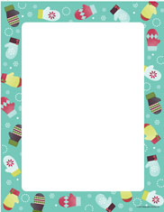 Imprintable Blank Stock - Noelle's Mittens Letterhead by Masterpiece Studios