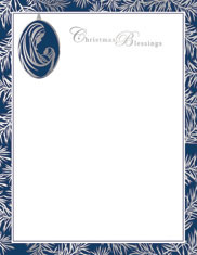 Imprintable Blank Stock - Madonna & Child Ornament Foil Letterhead by Masterpiece Studios