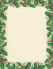 Imprintable Blank Stock - Dancing Holly Letterhead by Masterpiece Studios