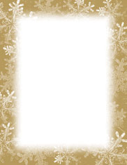 Imprintable Blank Stock - Frosted Holiday Wishes Letterhead by Masterpiece Studios