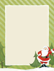 Imprintable Blank Stock - Jolly Santa Claus Letterhead by Masterpiece Studios