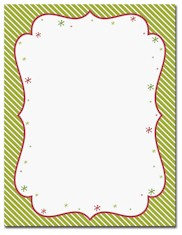 Imprintable Blank Stock - Peppermint Twist Letterhead by Masterpiece Studios