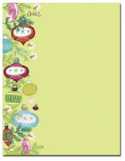 Imprintable Blank Stock - Whimsy Ornaments Letterhead by Masterpiece Studios