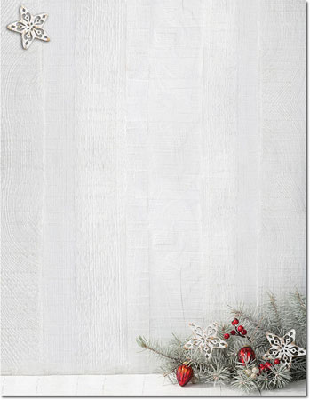 imprintable blank stock woodsy pine holiday letterhead by