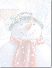 Imprintable Blank Stock - Snowman Face Holiday Letterhead by Masterpiece Studios