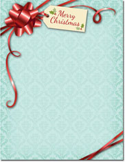 Imprintable Blank Stock - Gift Package Holiday Letterhead by Masterpiece Studios