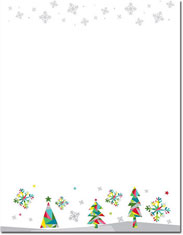 Imprintable Blank Stock - Prismatic Holiday Holiday Letterhead by Masterpiece Studios