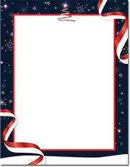 Imprintable Blank Stock - Patriotic Holiday Holiday Letterhead by Masterpiece Studios