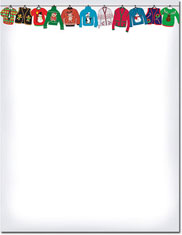 Imprintable Blank Stock - Holiday Sweater Holiday Letterhead by Masterpiece Studios