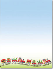 Imprintable Blank Stock - Holiday Train Holiday Letterhead by Masterpiece Studios