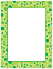 Imprintable Blank Stock - Green Polka Dots Letterhead by Scholastic