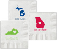 Chatsworth - Letterpress Napkins (State)