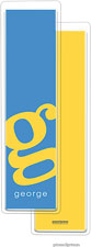 PicMe Prints - Personalized Bookmarks (Alphabet Tall - Sunshine on Ocean)