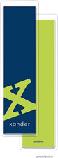 PicMe Prints - Personalized Bookmarks (Alphabet Tall - Chartreuse on Navy)