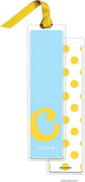 PicMe Prints - Personalized Bookmarks (Alphabet Tall - Sunshine on Sky with Ribbon)