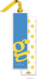 PicMe Prints - Personalized Bookmarks (Alphabet Tall - Sunshine on Ocean with Ribbon)