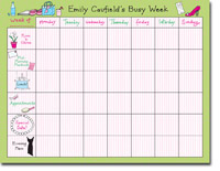 Chatsworth Robin Maguire - Calendar Pads (Her Busy Week - Calendar Pad)