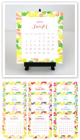 Flower & Vine - Watercolor Dots 2020 Desk Calendar & Easel