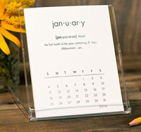 Desktop Calendars (Monthly Definition)
