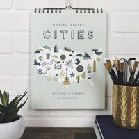 United States Cities 2020 Hanging Wall Calendar