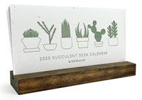 2020 Desktop Calendars (Succulent Wildflower Seeded Plantable Letterpress)