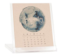 Desktop Calendars (Watercolor)