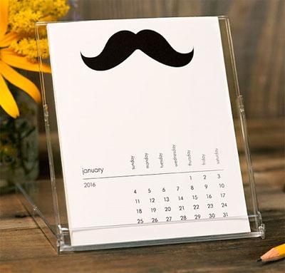 Desktop Calendars (Mustache of the Month)