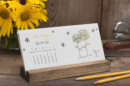 Desktop Calendars (Daisy Seeded Plantable Letterpress)