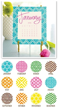 Stacy Claire Boyd - Painted Pattern Desk Calendar & Easel (CRS125)