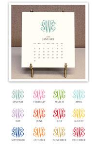 Stacy Claire Boyd - Monogrammed Desk Calendar & Easel (CCS123)