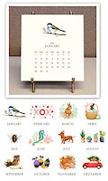 Stacy Claire Boyd - Hand Sparkled Desk Calendar & Easel