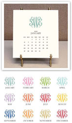 Stacy Claire Boyd - Monogrammed Desk Calendar & Easel 2019