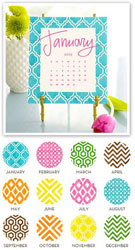 Stacy Claire Boyd - Painted Pattern Desk Calendar & Easel 2019
