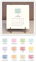 Stacy Claire Boyd - Monogrammed Desk Calendar & Easel 2020