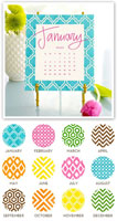 Stacy Claire Boyd - Painted Pattern Desk Calendar & Easel 2020