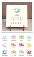 Stacy Claire Boyd - Monogrammed Desk Calendar & Easel 2021