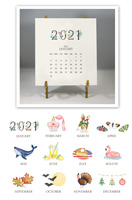 Stacy Claire Boyd - Hand-Sparkled 2021 Desk Calendar & Easel
