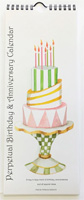 Stevie Streck Designs - Perpetual Birthday & Anniversary Hanging Wall Calendar (2021)