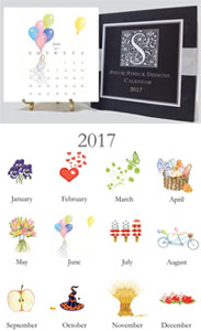 Stevie Streck Designs - Desk Calendar (2017)