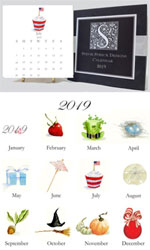 Stevie Streck Designs - Desk Calendar (2019)