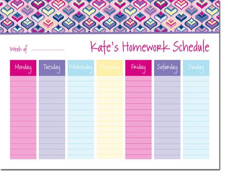 iDesign Weekly Calendar Pads - Genie Pink