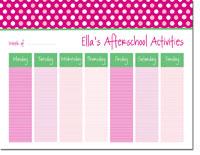 iDesign Weekly Calendar Pads - Polka Dots Pink