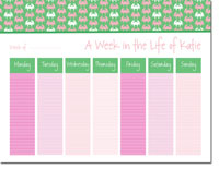 iDesign Weekly Calendar Pads - Crabs Pink